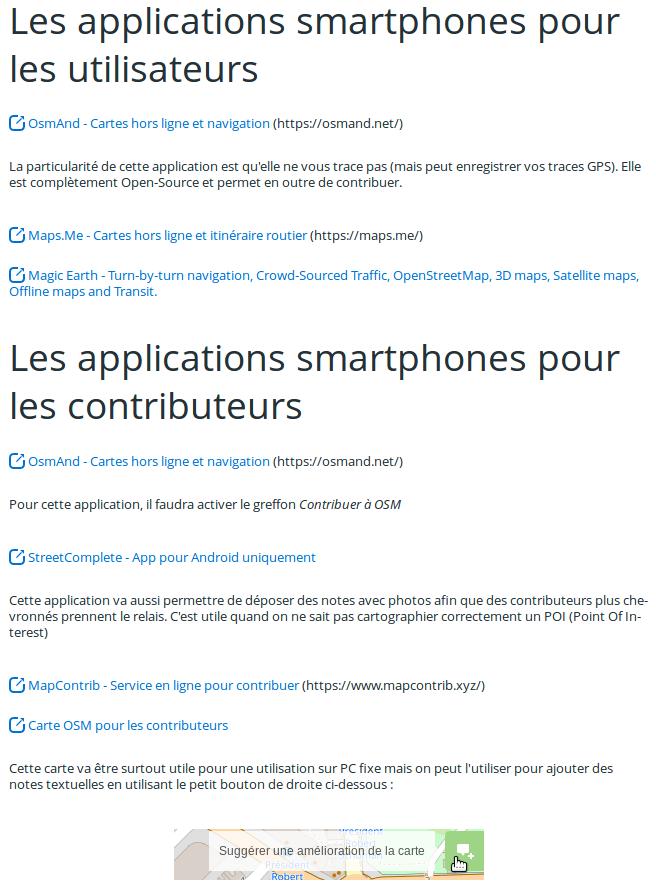 Applications Smartphones